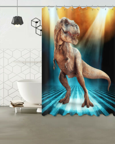 Dinosaure Rideau de douche tissu Ensemble tapis de bain Tapis 100/% Polyester Salle De Bain Rideaux
