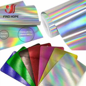 Holographic Vinyl Heat Transfer Vinyl Brilliantfor Cloth T-shirt DIY New Decorat