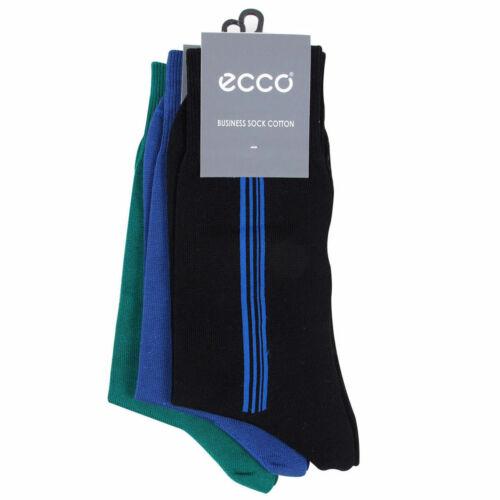 Ecco Homme 3-Pack Business Chaussettes-Mix Couleurs-EU 42-44 UK 8-10