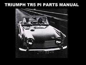 Triumph Tr5 Parts Manual Tr 5 Pi Part Number List 290pg With