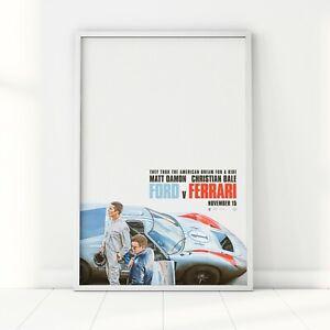Ford v Ferrari Le Mans 66 Poster 2019 Movie Art Print