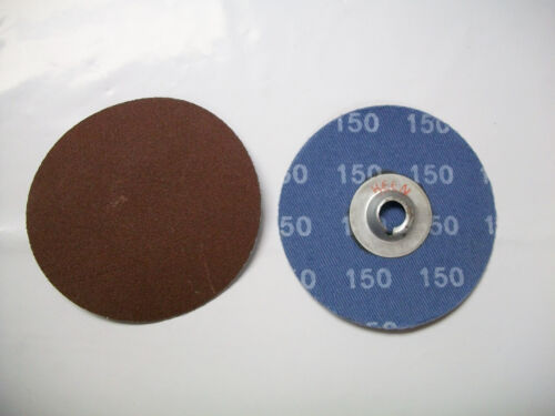 """w//Free Arbor! 150 Grit 2/"""" Clip On Type S Roloc Sanding Disc AO Keen 50pc"""