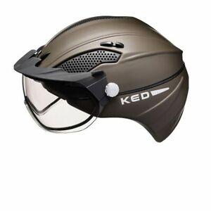 KED-Alvis-Farbe-brown-matt-Groesse-M-52-58-cm-Reithelm-mit-Visier