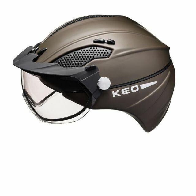KED - Alvis - Farbe: brown matt - Größe M (52 - 58 cm) - Reithelm mit Visier