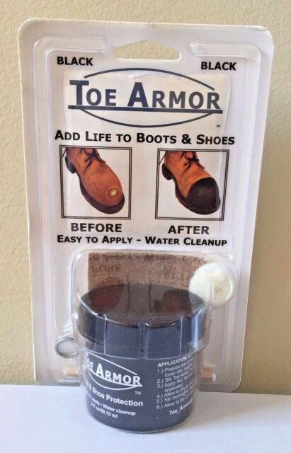 TOE ARMOR Toe Armor Boot & Shoe Toe Protector and Repair 2 oz. BLACK NEW