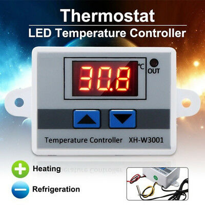 DC 12V Probe 40℃-300℃ LCD Digital Temperature Controller Thermostat Switch