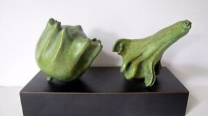 Bronze-Lost-Wax-Cast-034-King-amp-Queen-034-Gourds-Decorative-Sculpture-Fine-Art