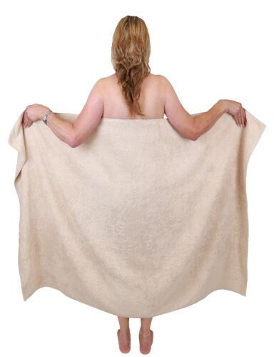 Betz Badetuch groß XXL Badetücher Saunatuch DRESDEN 100/% Baumwolle Farbe sand