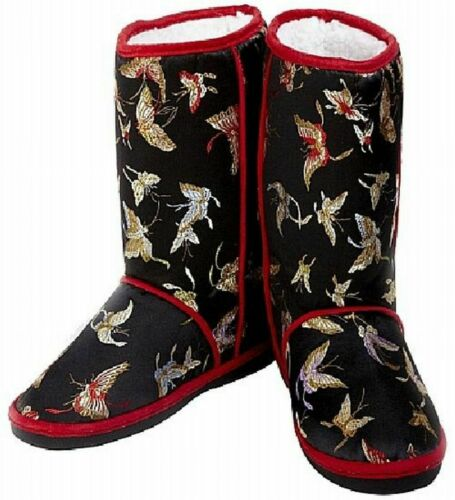 Details about  /Cicciabella Brocade Boot Faux Fur Lined Women/'s S,M,L,XL Aqua Black Ruby Topaz