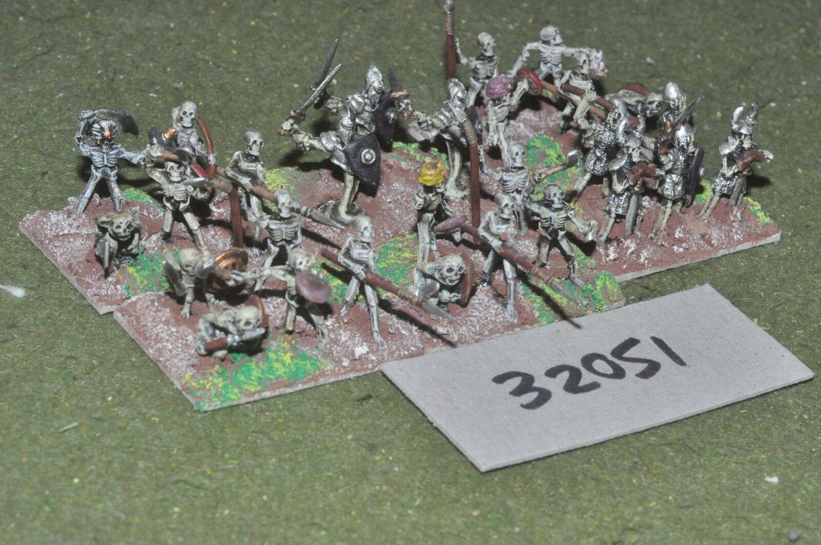 15mm fantasy   skeletons - warband 30 figures - inf (32051)
