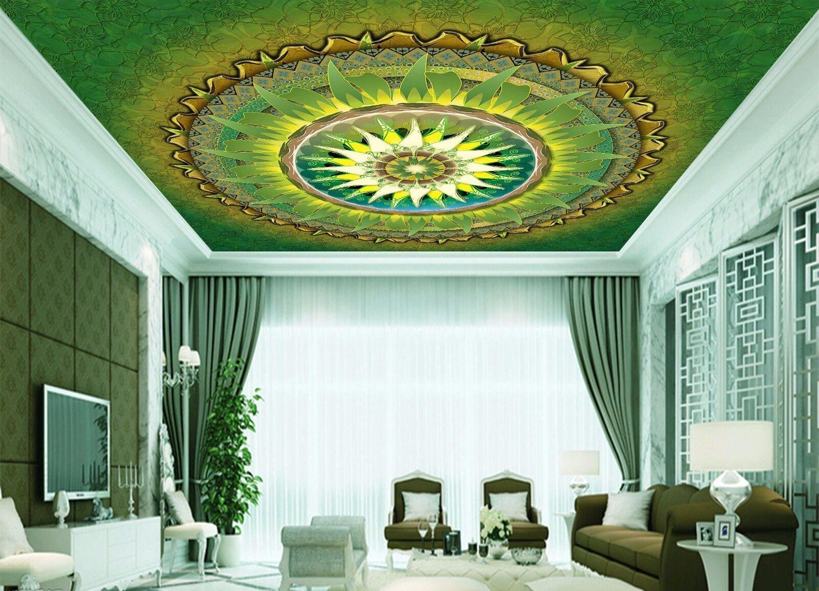 3D Grün Sun 865  Ceiling WallPaper Murals Wall Print Decal Deco AJ WALLPAPER