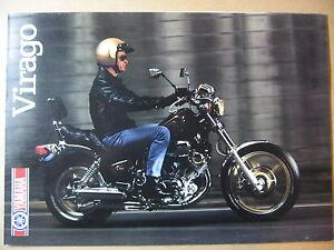 Actif Catalogue Brochure 3 Volets 1988 Yamaha Xv 1000 Virago En Voyageant