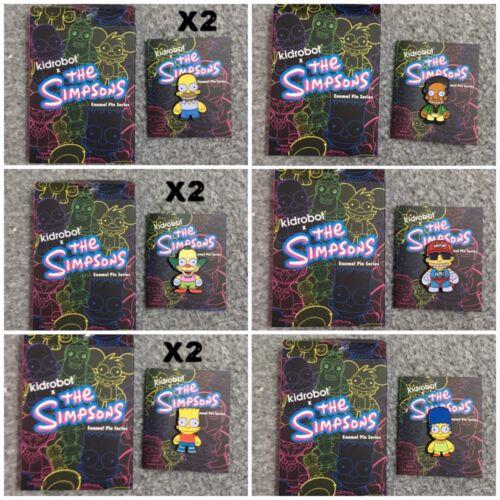 The Simpsons Kidrobot Enamel Pins Series