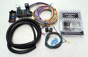 deluxe 15 universal street rod wiring wire kit bonus with headlight rh ebay com Hot Rod Headlite Switch 51 Plymouth Turn Signal Switch Wiring Diagram