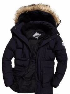 Details about Superdry Expedition Parka Jacket Down Winter Coat Jacket Size XL