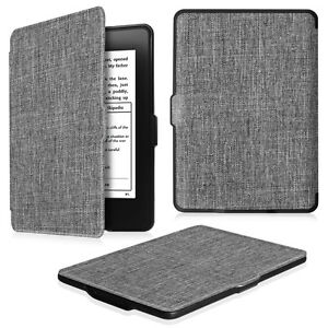 timeless design 4592f 0bca3 Details about For All-New Amazon Kindle Paperwhite Case Premium Fabric  Cover Auto Sleep/Wake