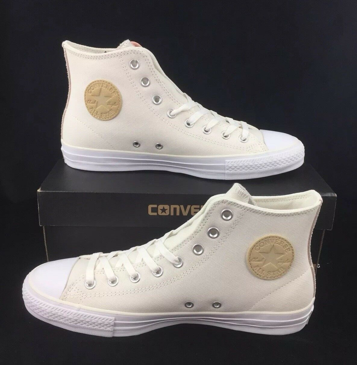 NEW Converse Chuck Taylor All Star Pro Hi Egret Pink Fawn shoes Sneakers Mens 10