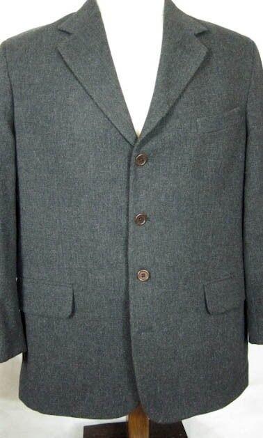 NEW Alan Flusser Worsted Wool & Bamboo Light Tan Sport Coat 44L
