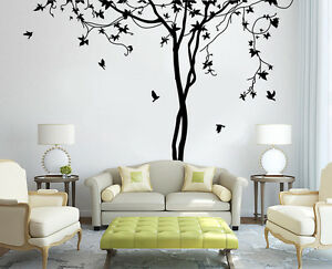 Tree Autumn Bird Forest Living Room Wall Stickers Vinly Decal Decor ...