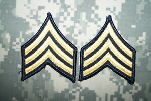 US Army FEMALE Sergeant SGT E-5 Dress Green Class A Military Patch Rank Sew on