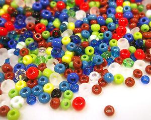 Rocailles-Glasperlen-250-g-PRECIOSA-2-3-4-6-mm-Box-im-Schmuck-perlen-mix-cz234