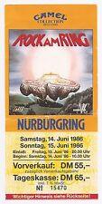 INXS,The Cure    In Concert 1986   Ticket / Konzertkarte / Eintrittskarte