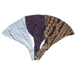 Women-039-s-Pack-of-3-Organic-cotton-headband-AMZ-80453