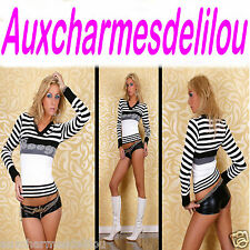 PULLOVER COL V SEXY BOOGY VETEMENT FEMME NEUF ET SEXY T 36-38