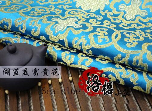 Chino han Disfraz Jacquard kimono de seda brocado tejido rico Flores grueso de estilo