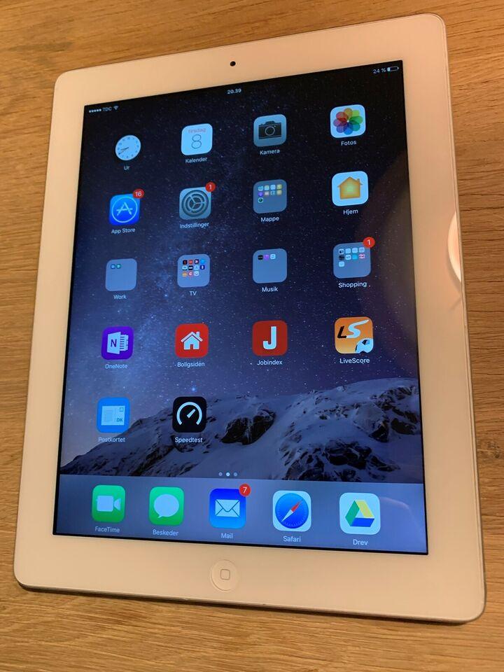 iPad 4, hvid, God