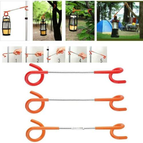 2-way Lanterne Lumière Lampes Hanger Tente Poles Hook Post Outdoor Camping Neuf