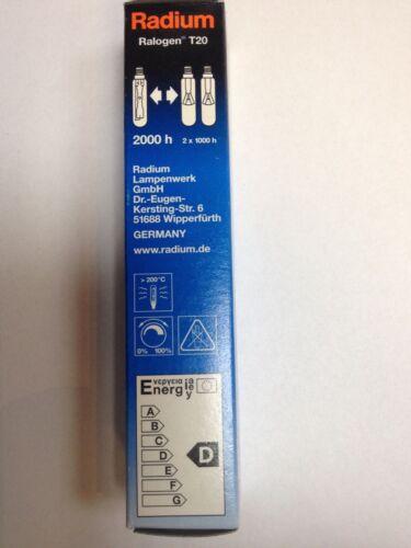 Radium Ralogen T20 RJH-T 60W 230V Klar E14 840Lm 2000h Halogen Lampe Birne Bulb
