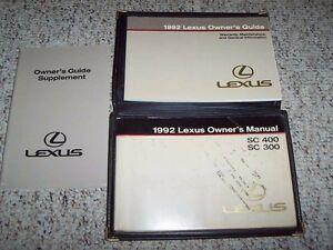 92 lexus sc400 owners manual