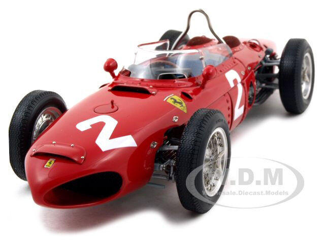 1961 FERRARI DINO 156 F1 #2 SHARKNOSE PHIL HILL GP ITALY MONZA 1:18 BY CMC  068
