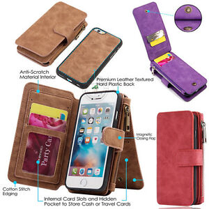 AU-New-Retro-Wallet-Leather-Zipper-Magnetic-Removable-Flip-Cover-Card-Slots-Case