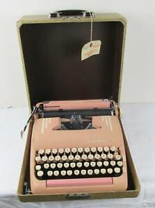 VINTAGE 1950's SMITH-CORONA SILENT-SUPER PINK TYPEWRITER