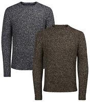 JACK & JONES Mens Wool Blend Crew Neck Knit Pullover Jumper Sweater Top Branson