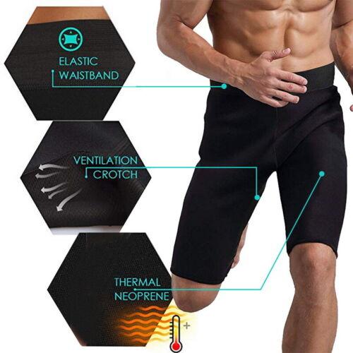 Herren Thermo Neopren Sweat Sauna Body Shaper Hosen Gewichtsverlust Hose Sport