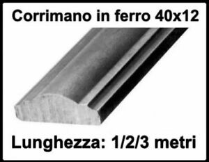 Corrimano Scale Interne Ferro Battuto.Dettagli Su Corrimano Passamano In Ferro Battuto Pieno Sagomato Per Scale Interne Esterno