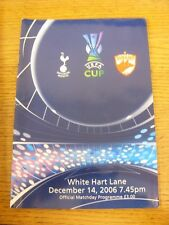 14/12/2006 Tottenham Hotspur v Dinamo Bucuresti [UEFA Cup] . Unless previously l