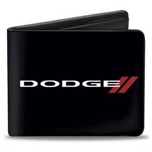 Men Wallet Bifold DODGE Charger Challenger Red SRT Black White Red Trucker Logo