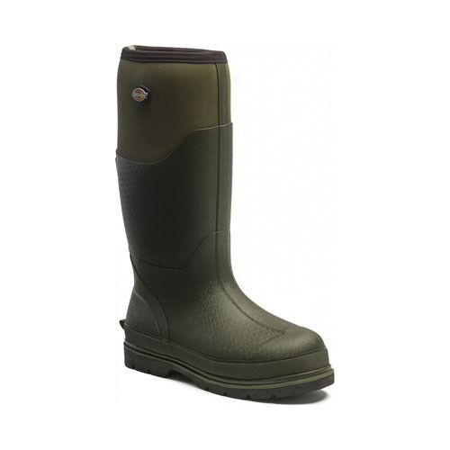 Dickies Landmaster Isolato Stivali in Scuro Pro Verde Impermeabile Isolato Landmaster Stivali di gomma 379a61