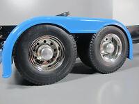 Pair Aluminum Rear Hubs Cover Wheel Nut Tamiya Semi 1/14 R/c Tractor Trailer