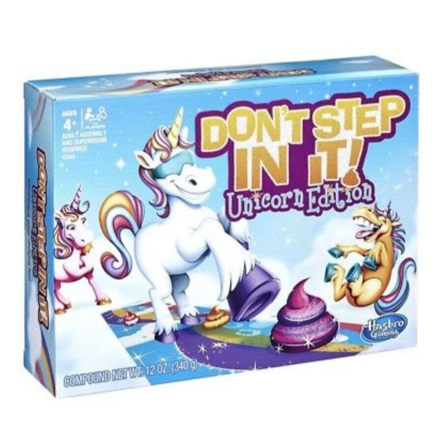 Dont Step In It Unicorn Edition Board Game By Hasbro - Factory Sealed