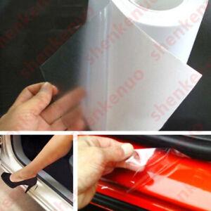 "6/""x60/"" Anti Scratch Clear Car Door Sill Edge Paint Protection Vinyl Film Sheet"