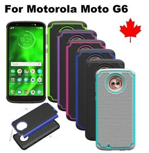 For-Motorola-Moto-G6-Hybrid-Dual-Layer-ShockProof-silicone-Hard-Case-Cover