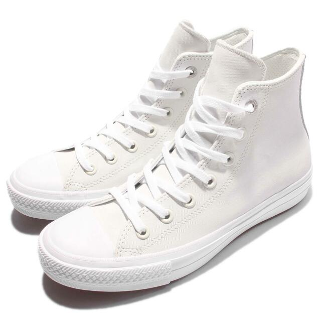 181375c24f07 Converse Chuck Taylor All Star II Two-Tone Leather High Top White Men  154027C