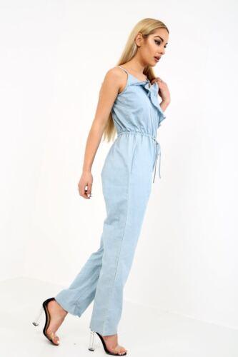 Da Donna EX FAMOUS STORE Blu Jeans Donna Lunghezza Intera Tutina Taglia 8-20