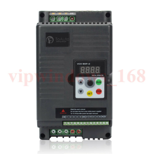 5m Panel Cable 3KW VFD Inverter 500Hz 4HP 12A Variable Frequency Driver 220V