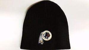 13f000ba Details about NFL Washington Redskins Winter Knit Hat, NEW (Black Beanie)